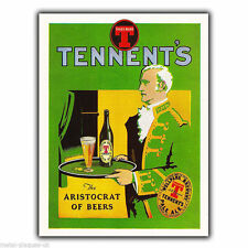 METAL SIGN WALL PLAQUE TENNENT'S BEER Vintage Retro poster Advert Kitchen/Bar