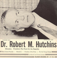 Interview With Dr. Robert M. Hutchins - Robert M. Hutchins (2009, CD NEUF) CD-R