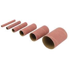 6 rodillos de lija óxido de aluminio (grano 80) para lijadora husillo