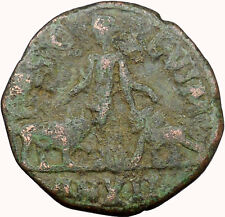 Trebonianus Gallus 251Ad Rare Roman Coin Viminacium Legion Bull & Lion i33983