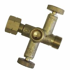 """Gasmate 2-WAY VALVE GAS FITTING Rust Resistant Connects 3/8"""" BSP,BRASS*AUS Brand"""