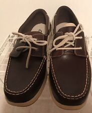 New in box Clarks Brown Lace up oxfords loafers ladies Size 12 M