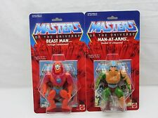 MOTU,Commemorative BEAST MAN & MAN-AT-ARMS,MOC,sealed,figure,Carded,He-Man
