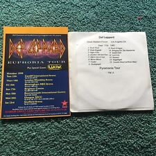 1999 Def Leppard UK Tour Ad  + Free Double Cd Los Angeles CA 1983 Pyromania