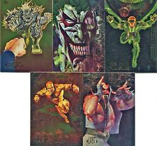 DC Comics Master Series Double Sided Foil Complete 5 Card Chase Set
