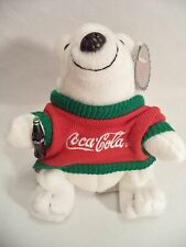 Plush Coca Cola Polar Bear In Sweater Coke Bean Bag Style 116 1998 North Pole