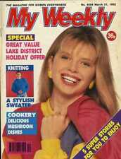 MY WEEKLY MAGAZINE 21/3/92 MOTHER OF THE BRIDE FASHION, COOKERY MUSHROOMS