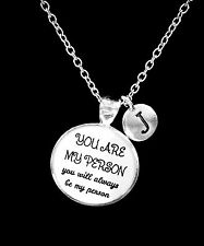 Choose Initial, You Are My Person You're Best Friend Sister Gift Necklace