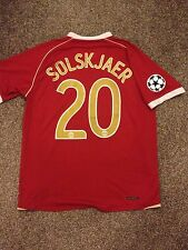MANCHESTER UNITED 2006/07 CHAMPION LEAGUE HOME SHIRT ADULTS(L) 20 SOLSKJAER