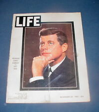 LIFE MAGAZINE NOVEMBER 29 1963 JOHN F KENNEDY ASSASSINATION