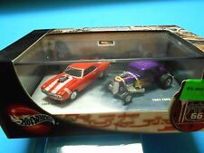 Hot Wheels 100 % 2 car set - ( Route U.S. 66 ) - 69 Camaro - & - 34 Ford