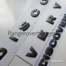 Land rover DISCOVERY 3D Bonnet Letters Badges Lettering Brunel Grey 3 4 Rear
