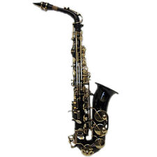HOLIDAY SALE Black/Gold Alto Saxophone w Wonderful Versatile Case *GREAT GIFT*