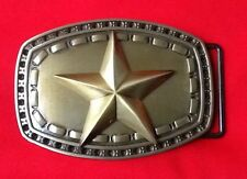 3d Oro Sheriff Star Cowboy wildwest Western Fancy Dress hebilla de cinturón