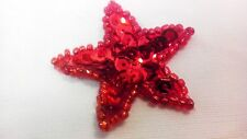 Assorted Color Star Sequin And Beads Appliques NEW