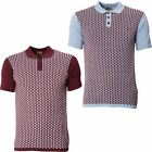 Gabicci Designer Mens Knitted Polo Shirt Collared Short Sleeve Top Size S-XXL