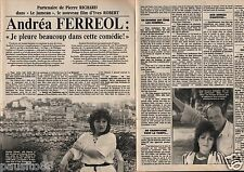 Coupure de presse Clipping 1984 Andréa Ferreol (3 pages)