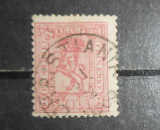 Norway stamp #15 used F signed