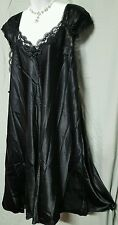 VENTURA SEXY BLACK  SLEEVELESS CALF LENGTH  NIGHTGOWN WITH LACE  WOMENS SIZE 2X