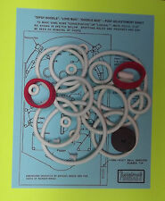 Williams Dipsy Doodle / Love Bug / Doodle Bug pinball rubber ring kit