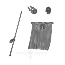 The Empire - Empire Greatswords Standard Pole/Banner/Tops - Warhammer Bitz