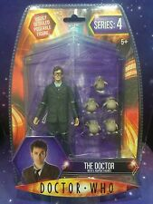 DOCTOR WHO FIGURE - THE 10th TENTH DOCTOR in GLASSES with 5 BABY ADIPOSE