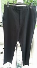 YVES SAINT LAURENT CLASSIC ELEGANT GENT'S BLACK PURE NEW WOOL TROUSERS W38 / 32