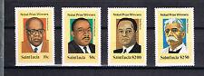 St Lucia 1980 Satz 494/97 Nobelpreis schon Postfrisch