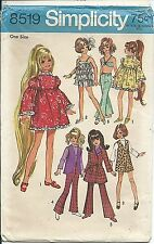 """S 8519 sewing pattern 17½"""" Crissy Teen DOLL CLOTHES sew 60's retro chic WARDROBE"""