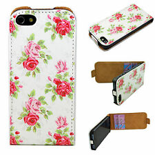 PU Leather Phone Vertical Flip Case Cover Protector For Apple iPhone SE 5 5G 5S