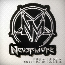 NEVERMORE EMBROIDERED PATCH CROWBAR ANTHRAX PANTERA BIOHAZARD Metal Negro D.I.Y
