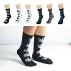 Women Men Long Cotton Sport Weed Leaf Socks Ankle Sock Crew Unisex