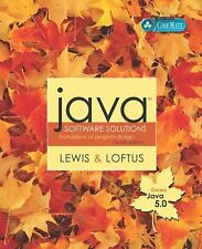 Java Software Solutions (Java 5.0 version): Foundations of Program Des-ExLibrary