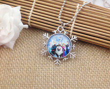Hot FROZEN PENDANT Silver Plated CHAIN NECKLACE ROYAL PRINCESS  B7 G.