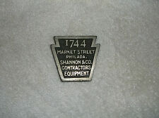 SHANNON & CO CONTRACTORS EQUIPMENT 1744 MARKET ST PHILADELPHIA PA  PAPERWEIGHT