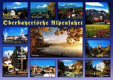 Oberbayerische Alpenfahrt , Ansichtskarte