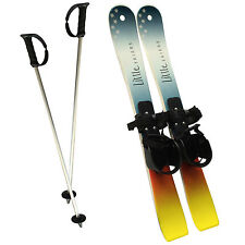 Little Skiers Toddler Plastic Skis and Poles - Beginner Skis for 1 to 4 years