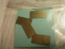 4 Trailing Truck Retainer Plates Brass? NOS See Photos