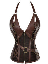 Plus Size Lingerie 5X Vegan Leather Steampunk Corset SEXY Vintage Fetish Bustier