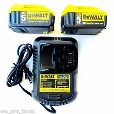 (2) New Genuine Dewalt XR 20V DCB205 5.0 AH Batteries, DCB101 Charger 20 Volt