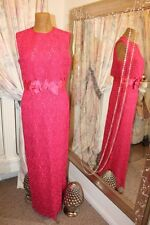 1960s Blanes London pink lace party dress - Ditsy Vintage - Size 10 12 redcarpet