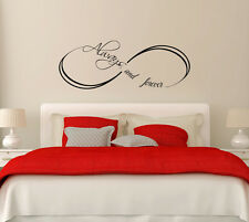 Infinity Wall Decals Bedroom Love Symbol Decal Always and Forever Sticker FD1