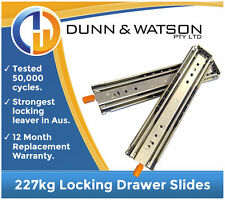 914mm 227kg Locking Drawer Slides / Fridge Runners - (Cargo 900mm Heavy Duty)
