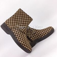 Louis Vuitton Men LV Brown DAMIER Pony Leather Sneakers Shoes Boots Size UK9 43