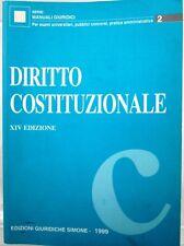 J 9830 SERIE MANUALI GIURIDICI n. 2: VOLUME DIRITTO COSTITUZIONALE 14A EDIZIO...