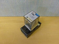 Bircher RF-3 Relay 10A 250VAC Coil 24VDC with Bircher BSF-11 base (14041)