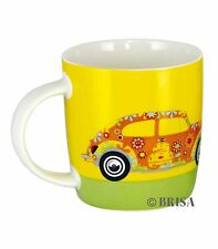 Beetle Coffee Mug Cup Flower Power Volkswagen VW Collection by BRISA BETA01