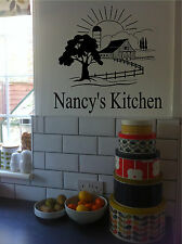 Personalized Kitchen Sign Farm Barn Country Wall Sticker Wall Art Vinyl Decals