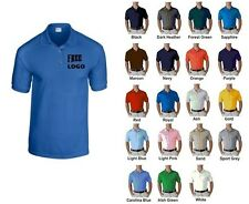 12 Custom Embroidered Wrinkle/Shrink Resistant DRY BLEND Polo Shirts FREE LOGO