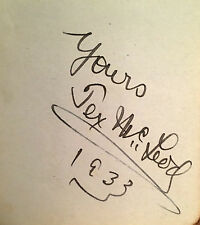 TEX McLEOD AUTOGRAPH OF THE COWBOY ENTERTAINER /WORLD CHAMPION/ MOVIE STAR